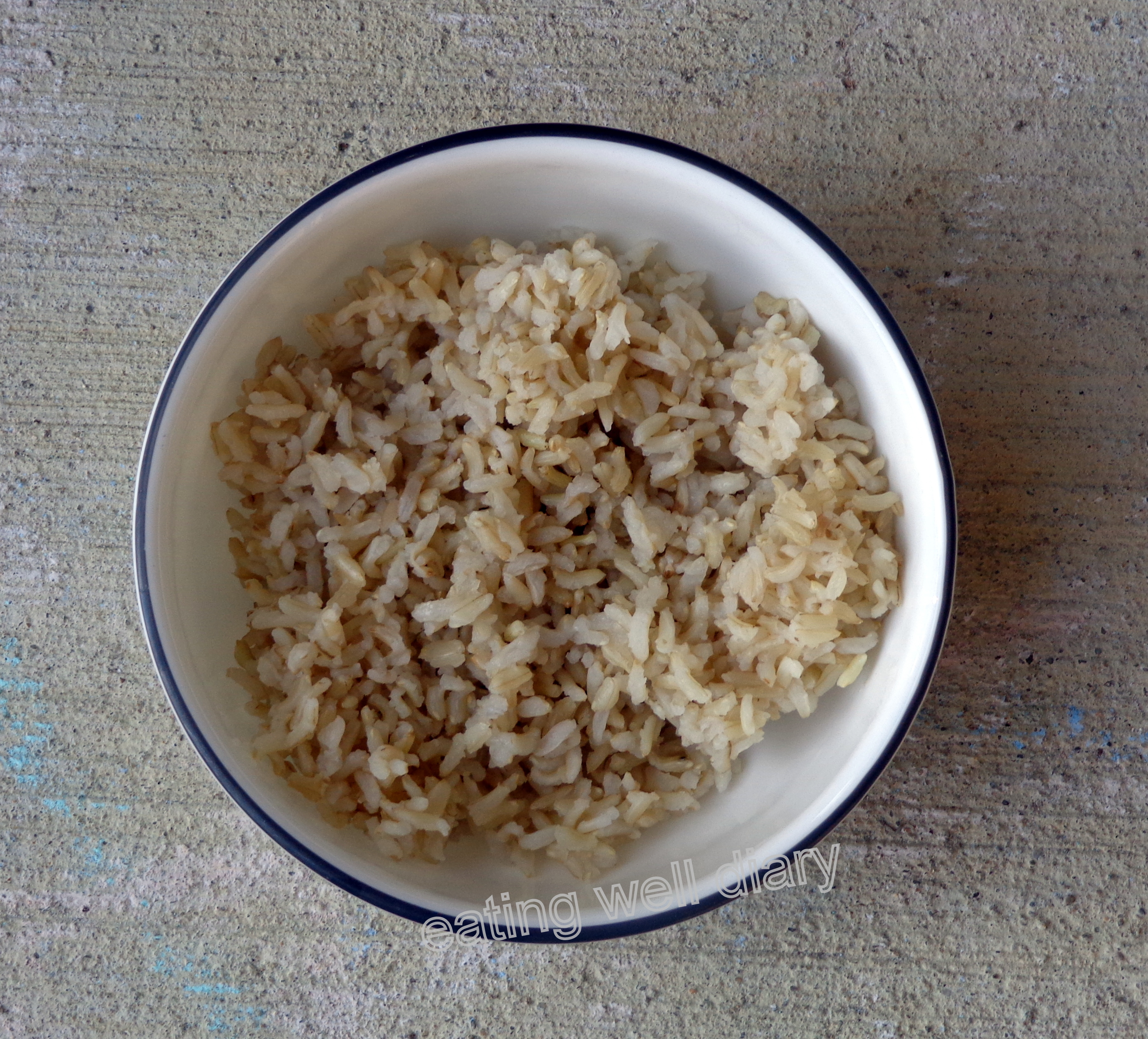How much is one serving of cooked brown rice