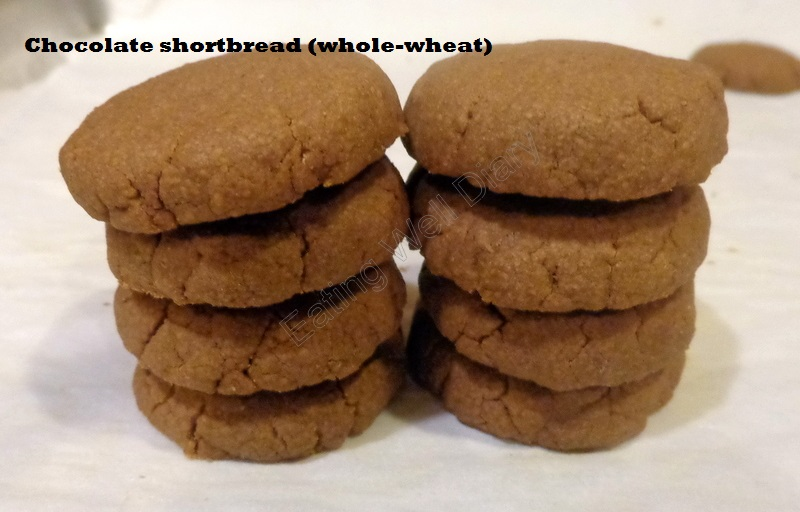 whole wheat chocolate shortbread
