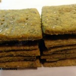 Whole grain mint crackers