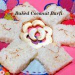 Baked Coconut Burfi (soft cake)