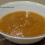 simple celery and tomato soup