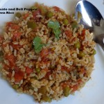 tomato and bell pepper brown rice