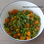 asparagus and carrot curry (south Indian style)