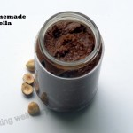 Homemade Nutella with activated hazelnuts