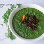 coriander coconut chutney (raw cilantro side dish)