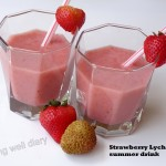Strawberry Lychee summer drink