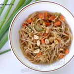 Vegetable soba noodles with peanuts