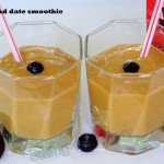 Mango and date smoothie (vegan)