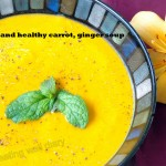 Quick and healthy carrot-ginger soup with cashew cream (Soups with SS)