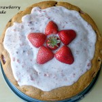 strawberry cake with coconut-strawberry filling (egg-free, whole wheat)