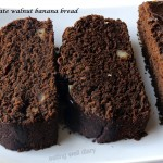 chocolate walnut banana bread (egg-free, sugar-free, whole wheat)