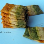 Tricolor baked crackers for India's Independence day