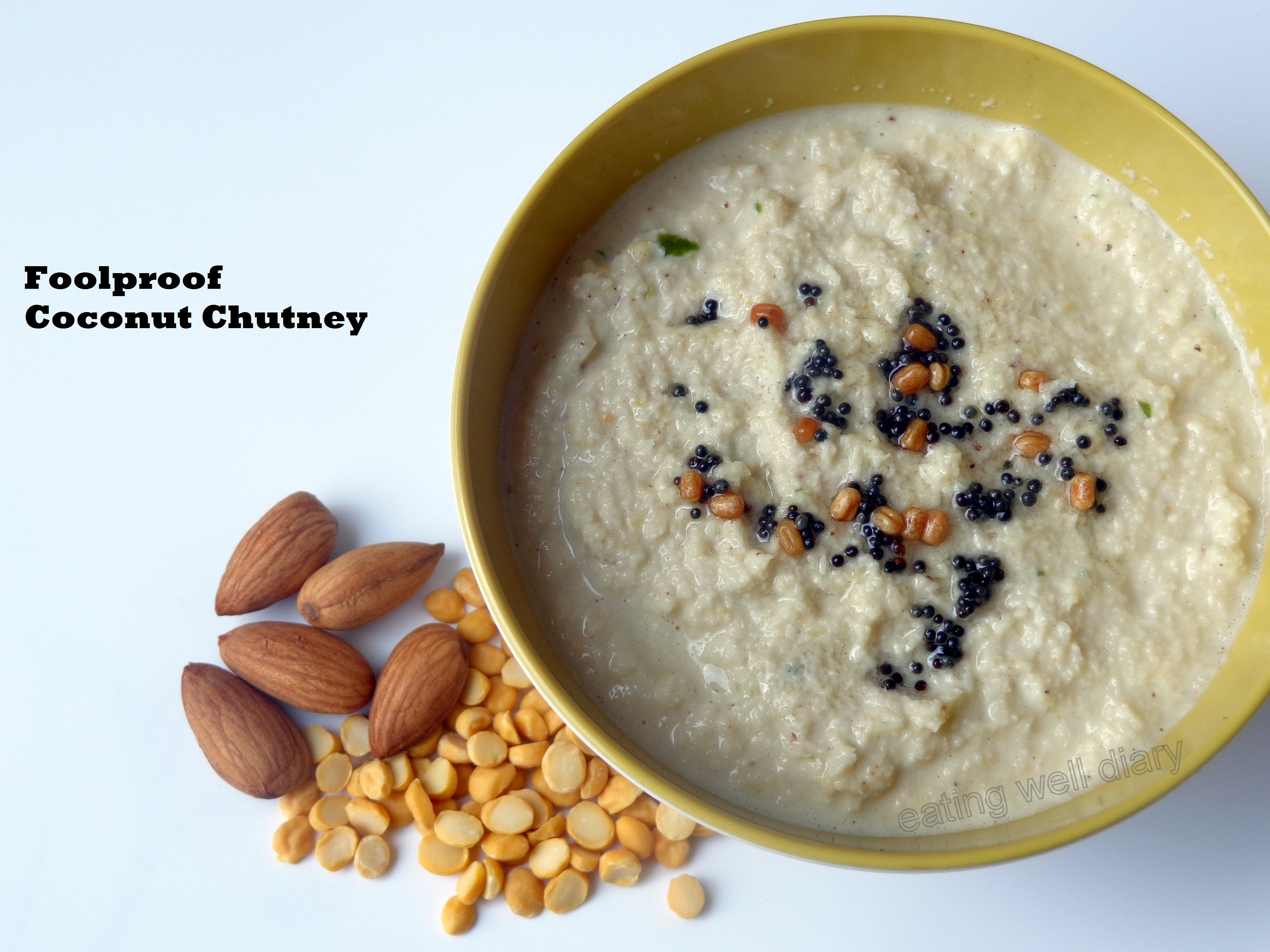 Foolproof coconut chutney- Grandmother's recipe