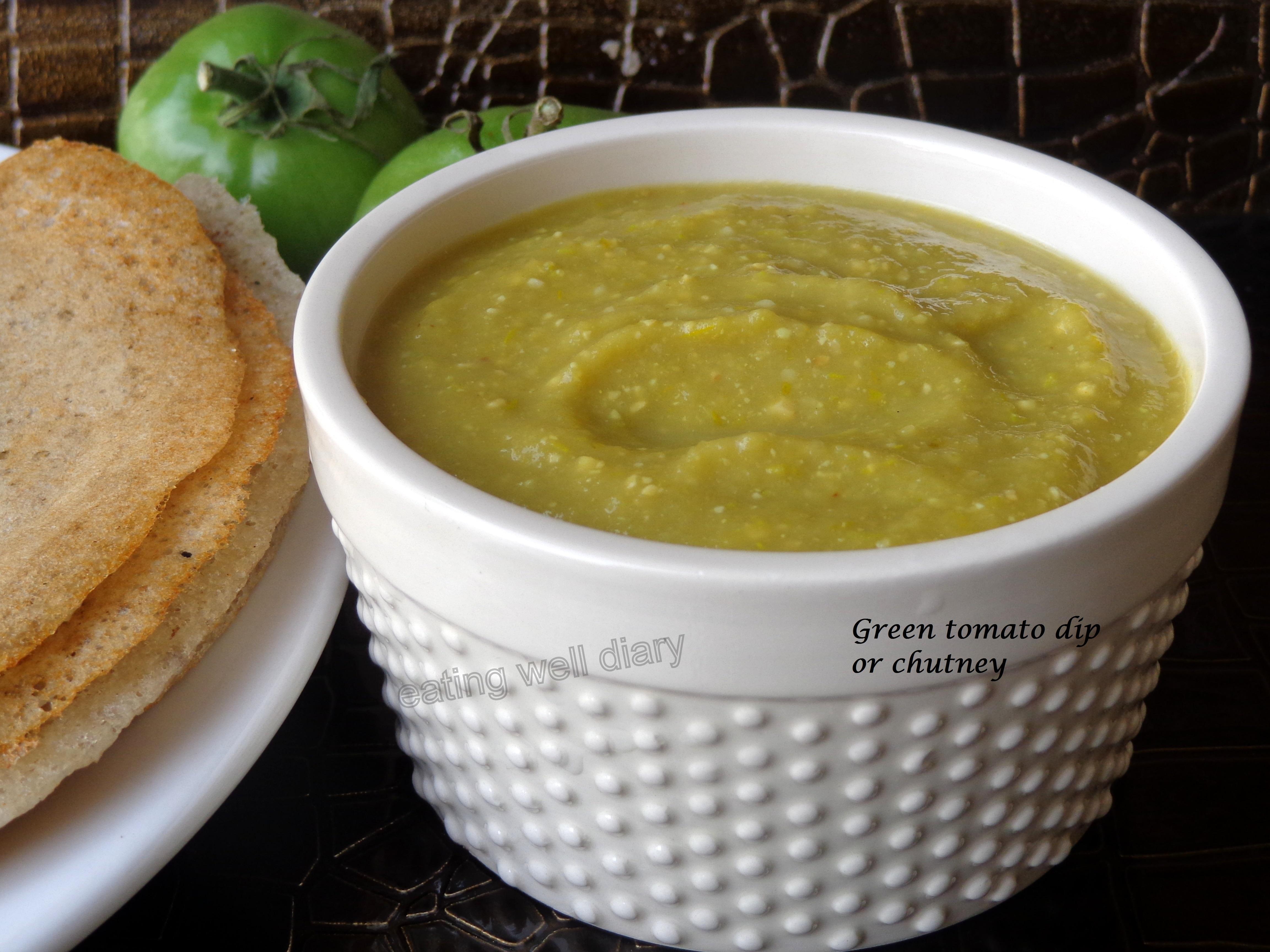 Green tomato dip (chutney)