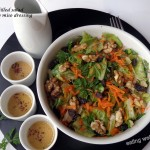 A carroty salad with tasty miso dressing