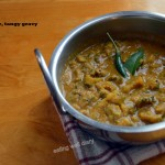 Bittergourd in spicy, tangy gravy (Pavakkai gojju)- Meatless Monday