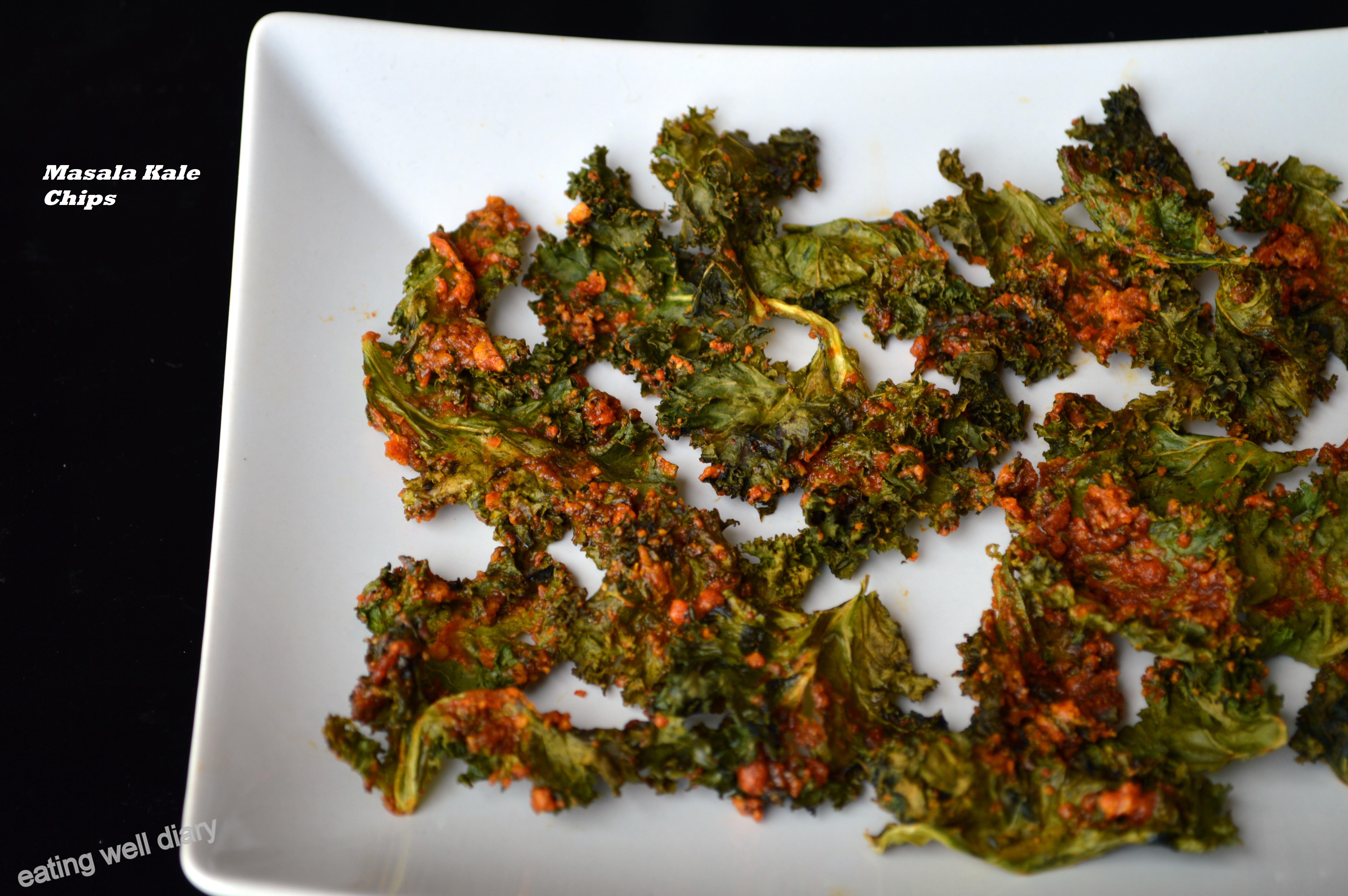 Oven Baked Masala Kale Chips