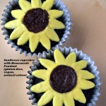 Sunflower Cupcakes with Homemade Fondant- Meatless Mondays (gluten-free, vegan, natural colors)