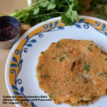 Cabbage and coriander Adai  (Pancake with Brown rice and Lentils) for Diabetes Friendly Thursdays