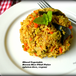 Mixed Vegetable Brown Rice Pilaf for Diabetes Friendly Thursdays
