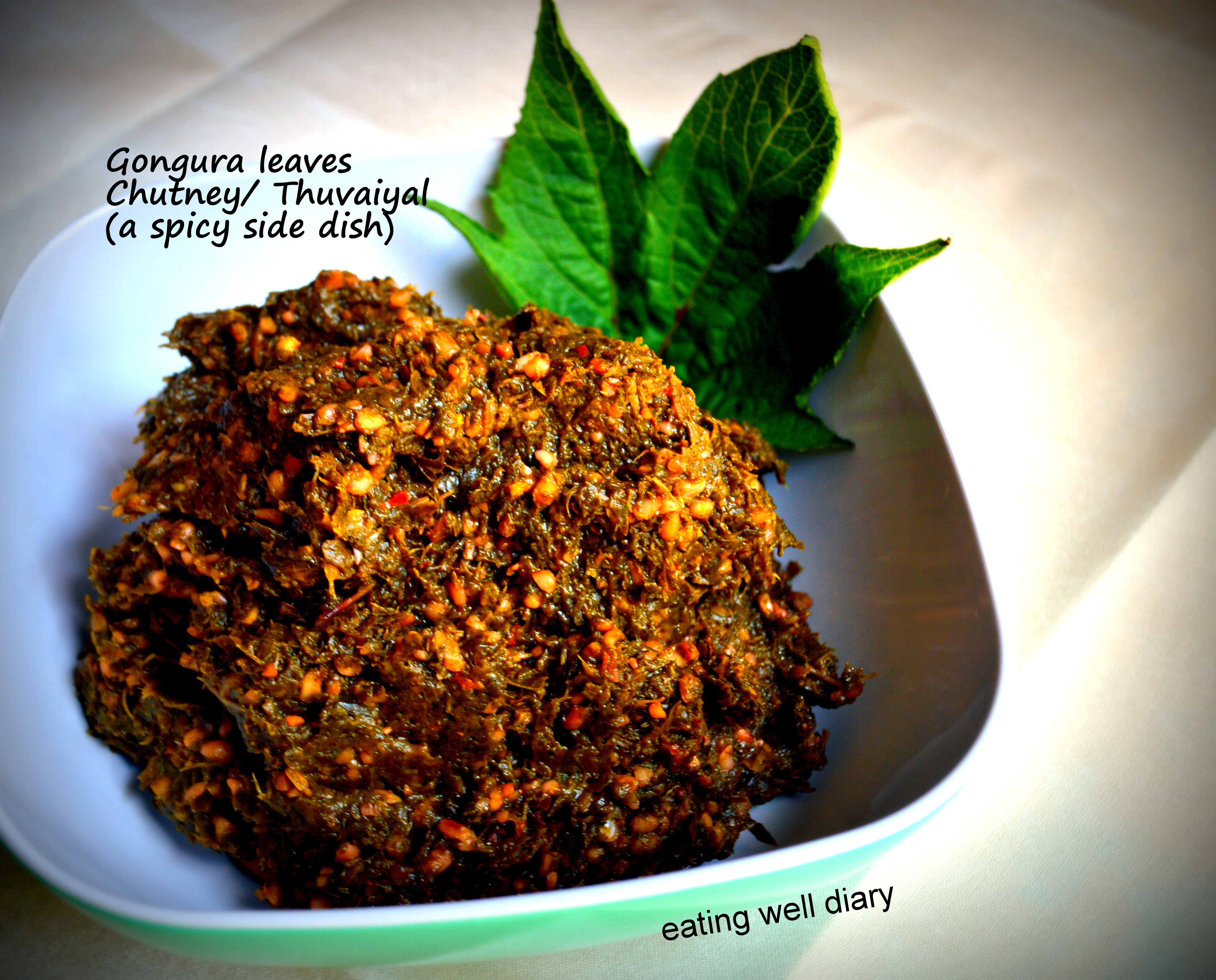 Gongura leaves Chutney or Thuvaiyal with A Healthy Tip! – DFT