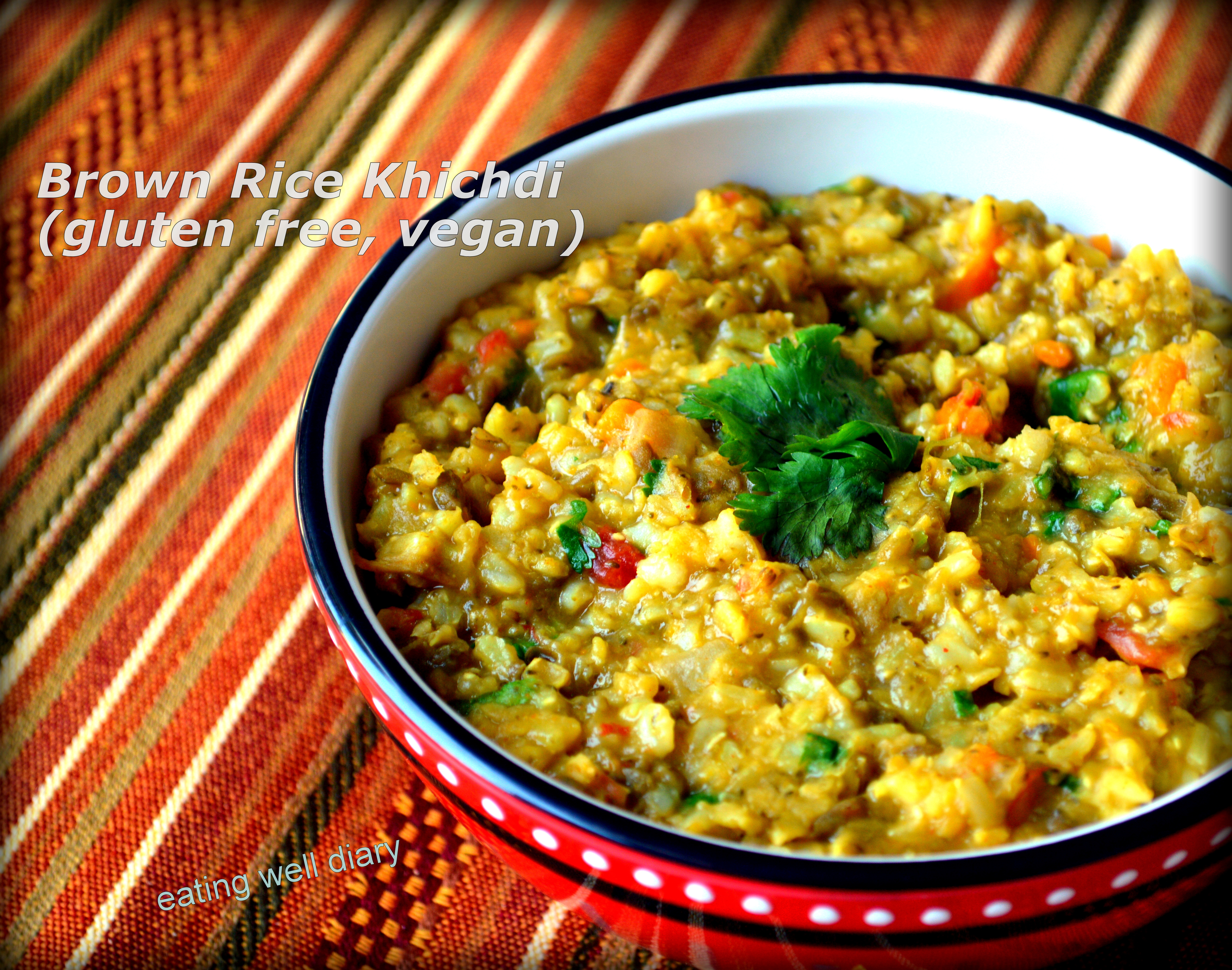 Brown Rice Khichdi – A  Single Pot Meal for Diabetes Friendly Thursdays