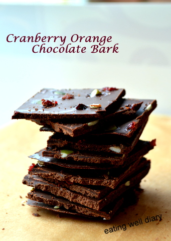 Healthy Cranberry Orange Chocolate Bark, and An Exciting Giveaway!