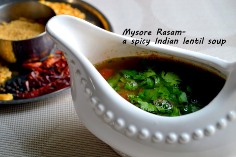 My Mother's Mysore Rasam (Spice Mix recipe included)