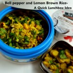 Bell pepper and Lemon Brown Rice for your Lunchbox- a Meatless Monday recipe