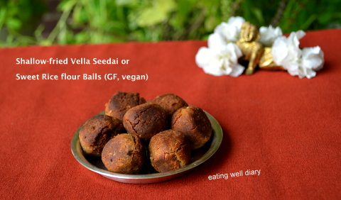 Shallow fried rice flour balls gluten free vegan snack on august 24 2016 by apsara tags appe pan snack best oil for deep frying frying coconut oil janmashtami snack krishna jayanthi recipe forumfinder Images