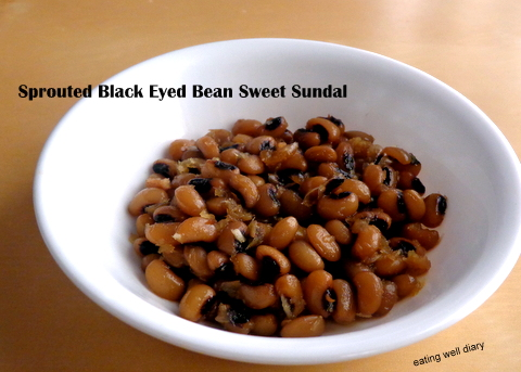 Two Ways To Make Sprouted Black Eyed Beans Sundal