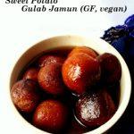 Sweet Potato Gulab Jamun (gluten-free, vegan)