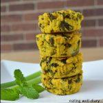 Savory Mint Almond Flour Muffins (gluten free, vegan)